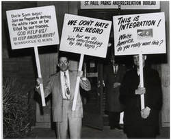 Minneapolis residents protest racial integration in 1962.